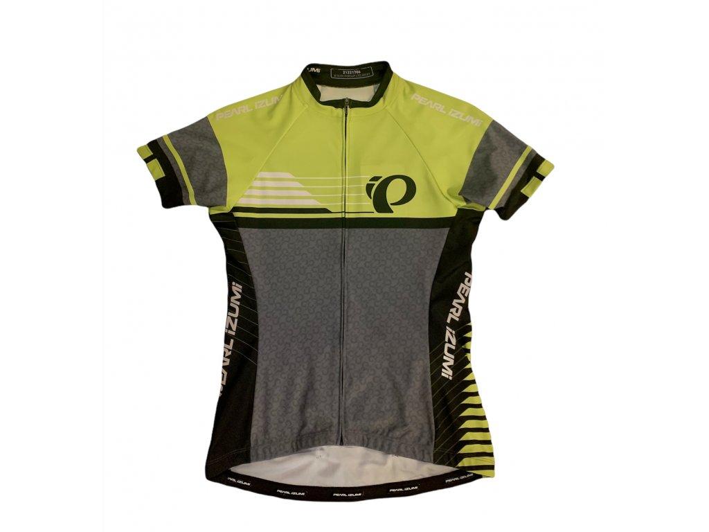 Cyklistický dres PEARL Izumi ELITE W PURSUIT LTD jersey, Green / Grey (veľkosť M)