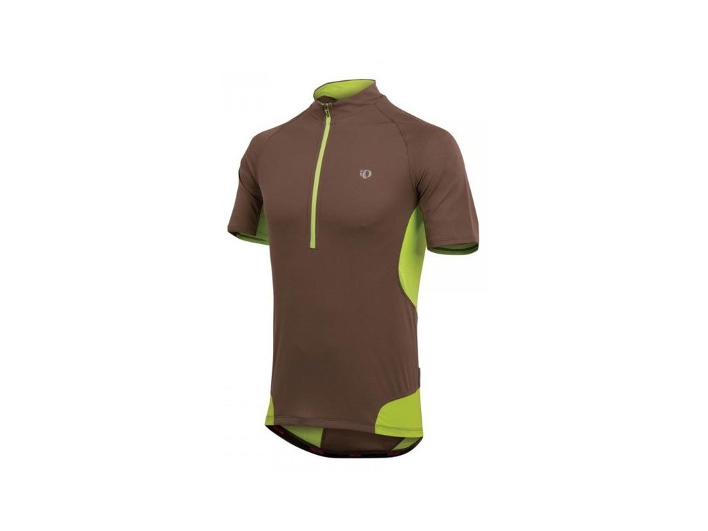 Cyklistický dres Pearl izumi VEER JERSEY - Silt / lime (varianta S)
