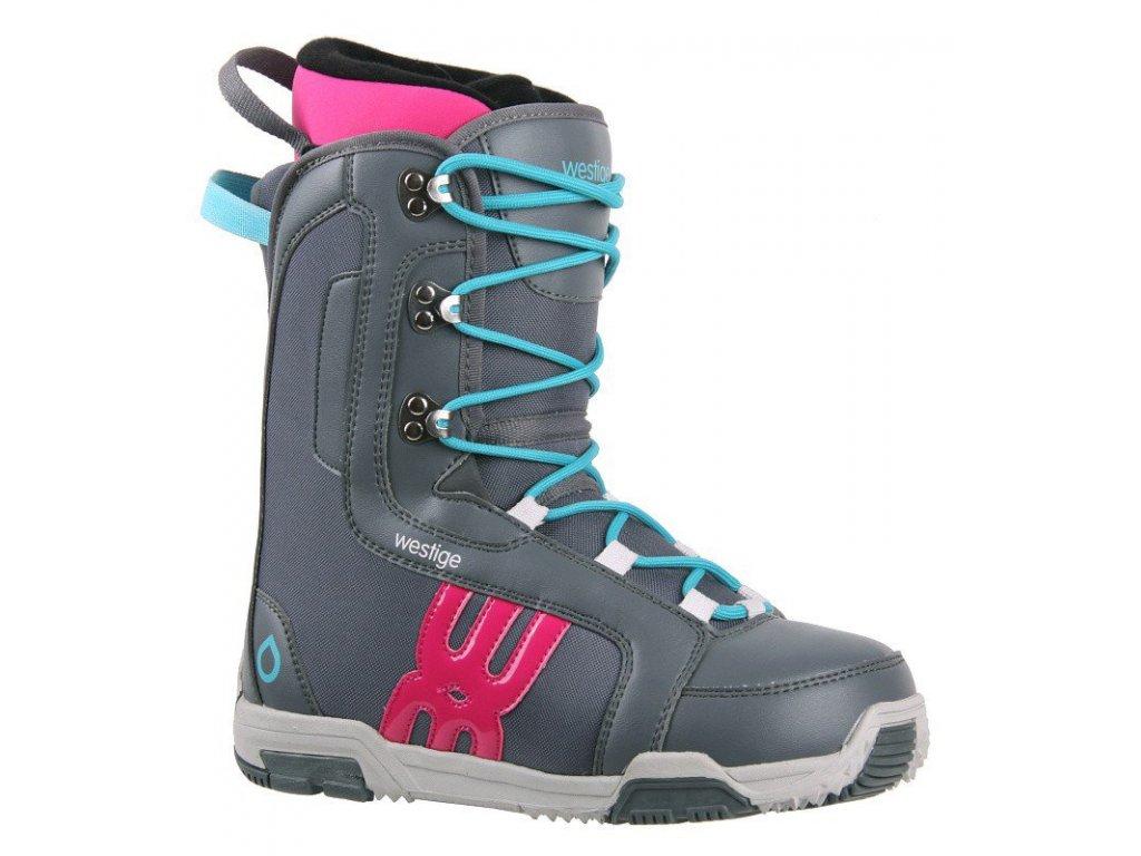 Topánky na snowboard Westige EMA, Grey 17/18 (varianta EUR 37 / 23,5 cm)