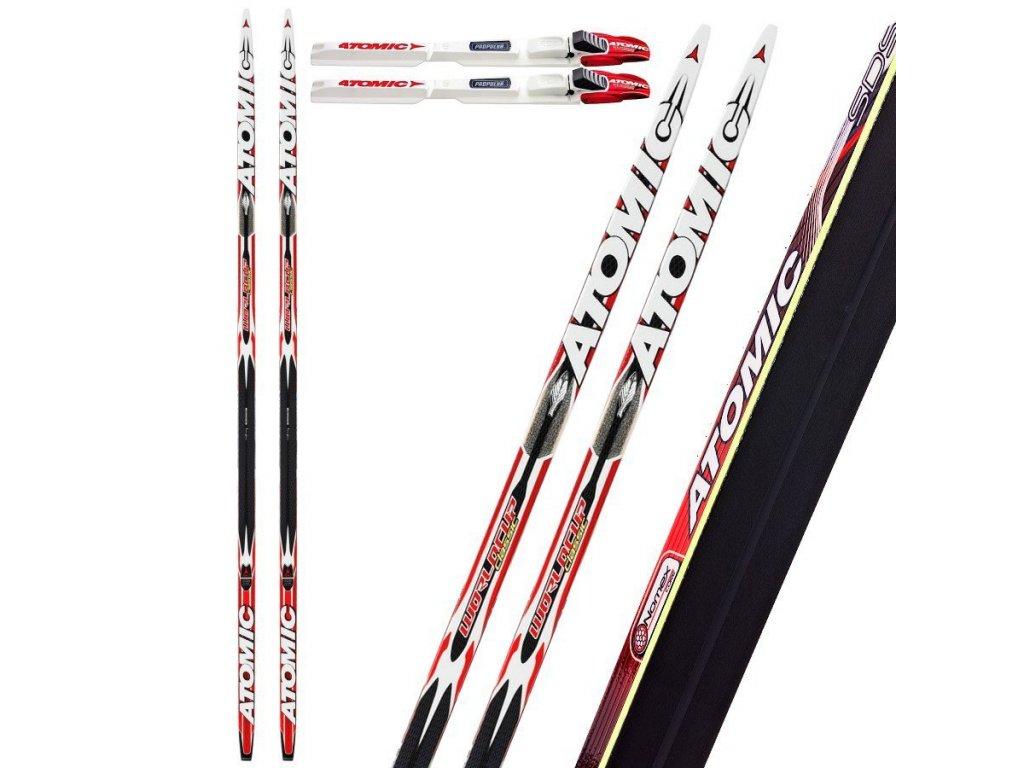 Atomic Worldcup CLASSIC FL SDS soft / cold + SNS Propulse RC2, black / white / red, 14 / 15- testovacie (dĺžka lyže 202)