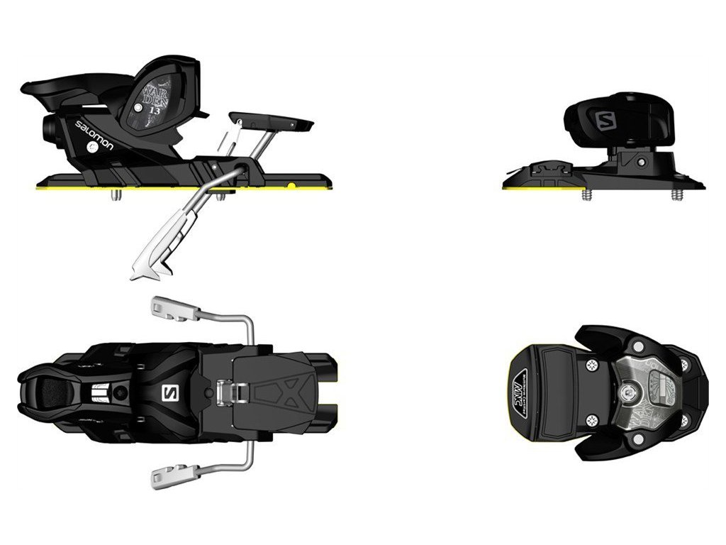 Lyžiarske viazanie Salomon WARDEN MNC 13 black (brzdy 115 mm) (varianta univerzálne)