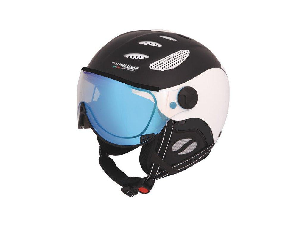 Lyžiarska helma Mango CuSn VIP - čierna mat / biela 18/19 (varianta 55-57 cm)