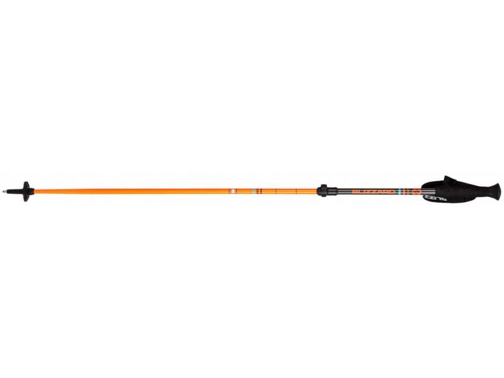 Blizzard RACE TELESCOPIC 2 SECTION SKI POLES - black / orange 18/19 (dĺžka 110-145)