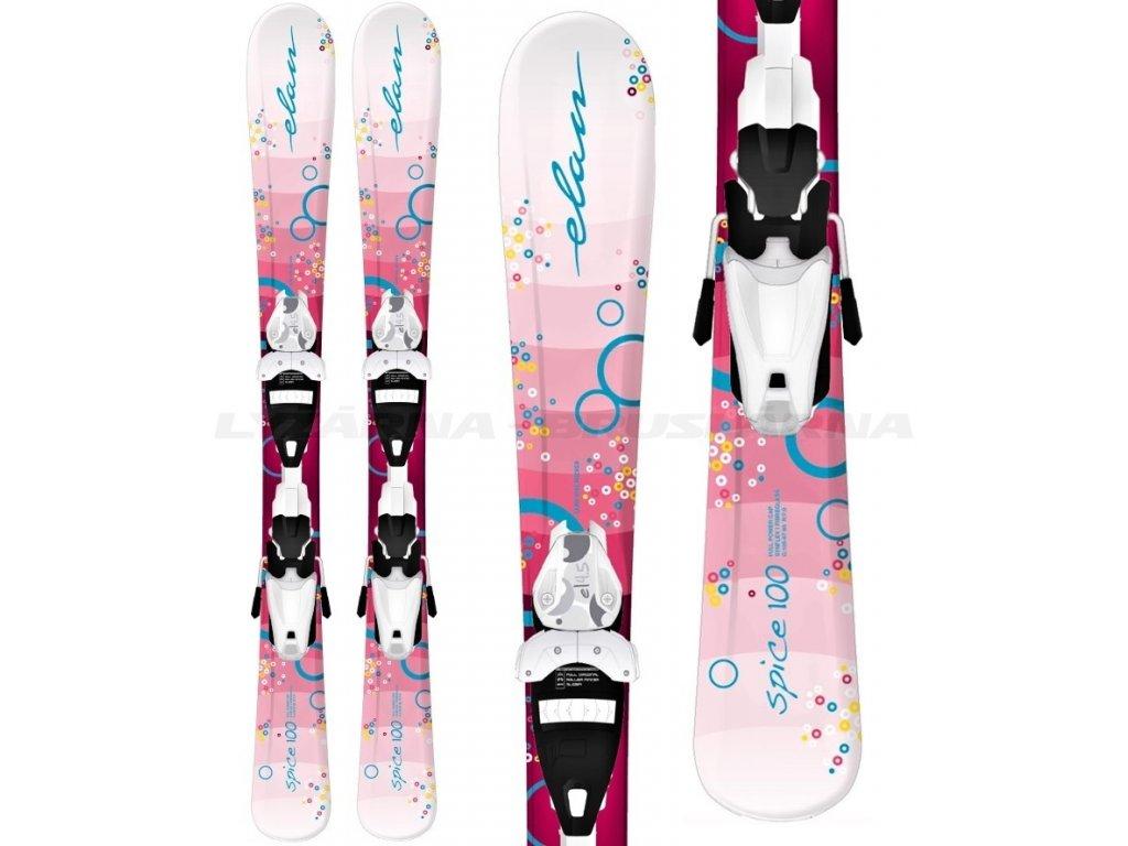 Zjazdové lyže Elan LIL SPICE QS + EL 4.5 (dĺžka lyže 90)
