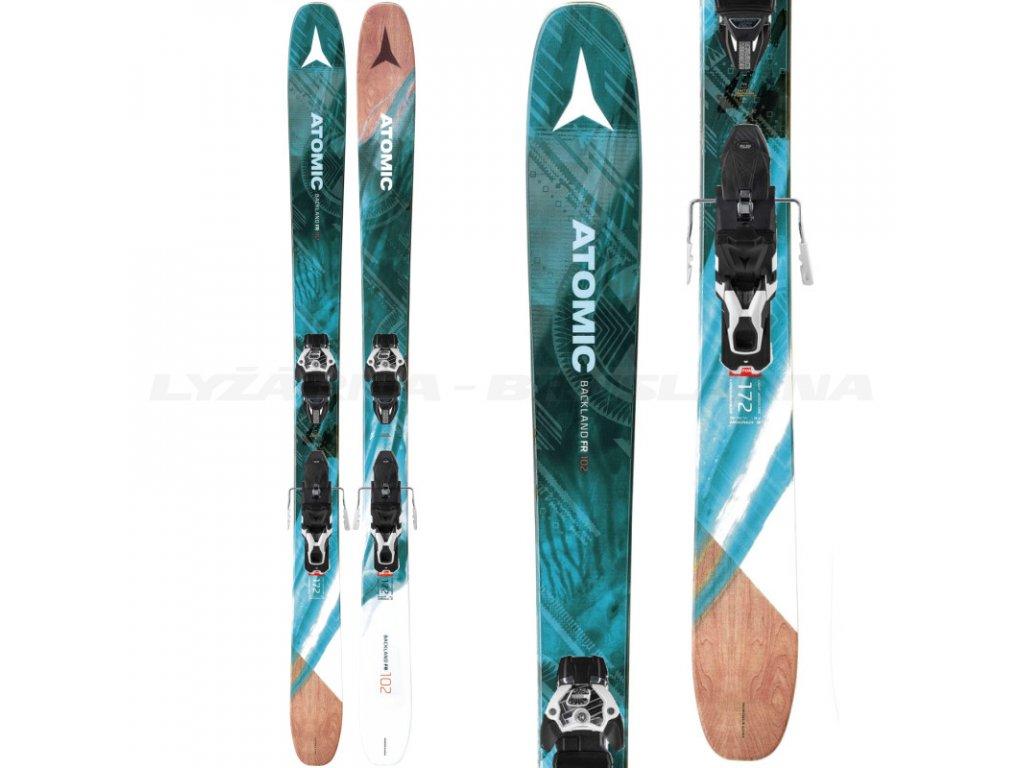 Zjazdové lyže Atomic BACKLAND FR 102 W + viazanie Warden MNC 13 17/18 (dĺžka lyže 172)