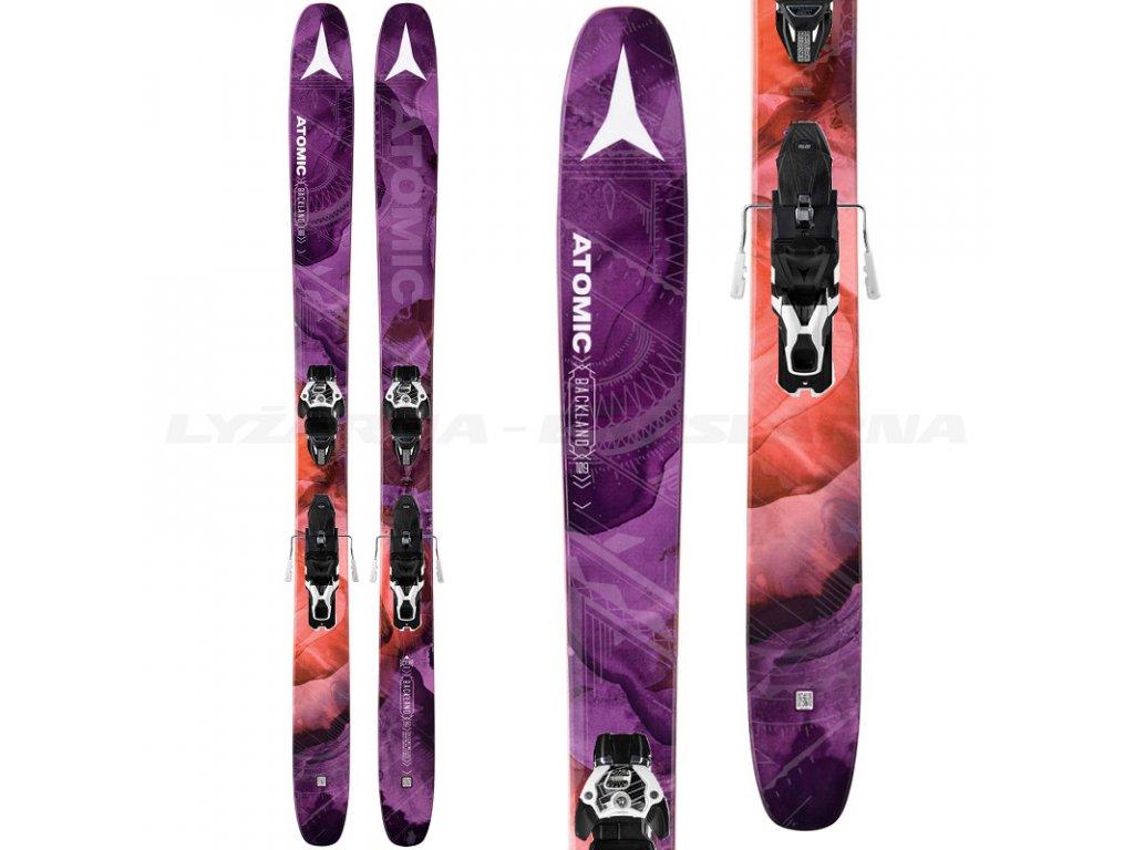 Zjazdové lyže Atomic BACKLAND FR 109 W + viazanie Warden MNC 13 16/17 (dĺžka lyže 175)
