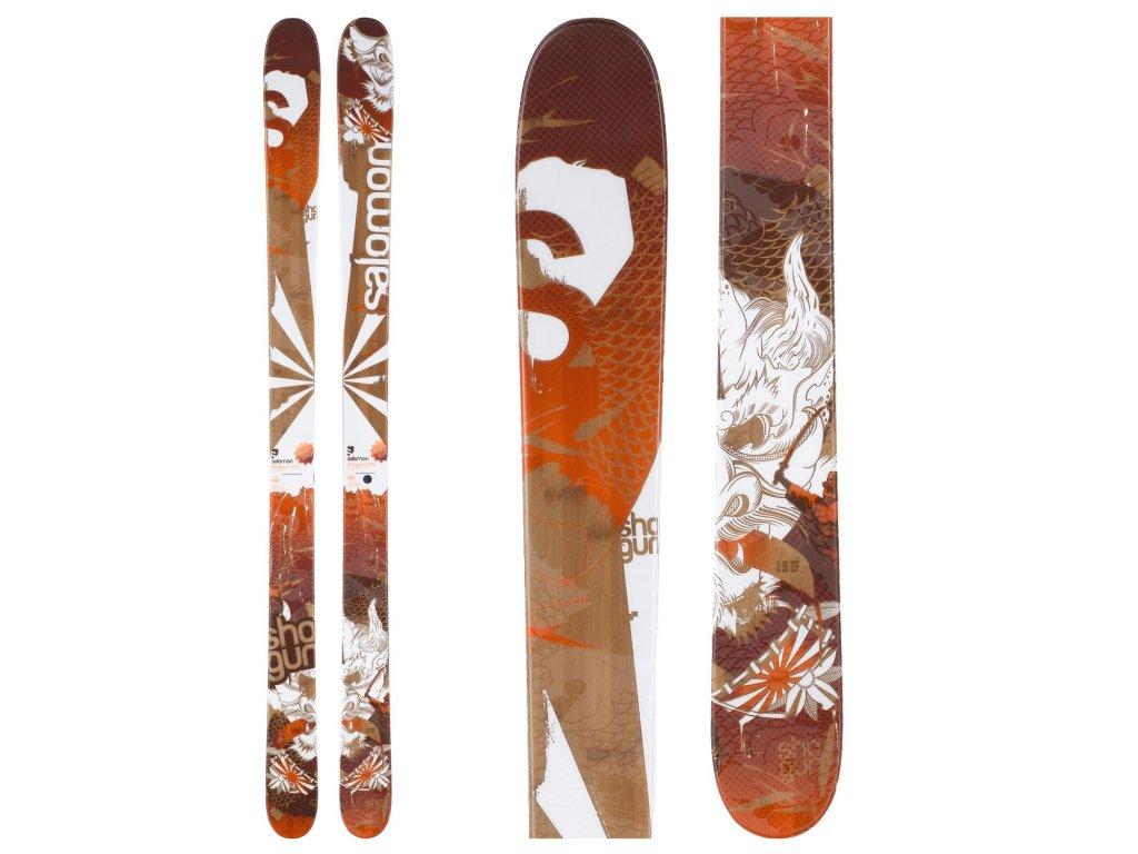 Zjazdové lyže Salomon SHOGUN JR + viazanie L7 orange 150 cm použitej (dĺžka lyže 150)