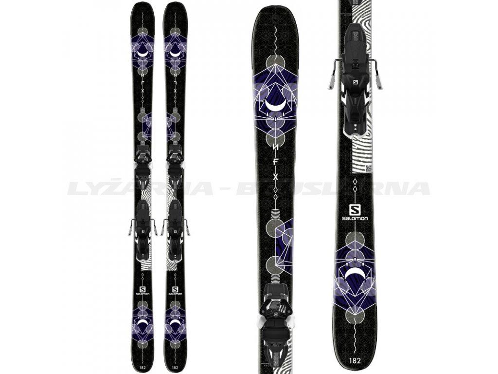 Zjazdové lyže Salomon NFX + viazanie Warden MNC 13 17/18 - Testované (dĺžka lyže 176)
