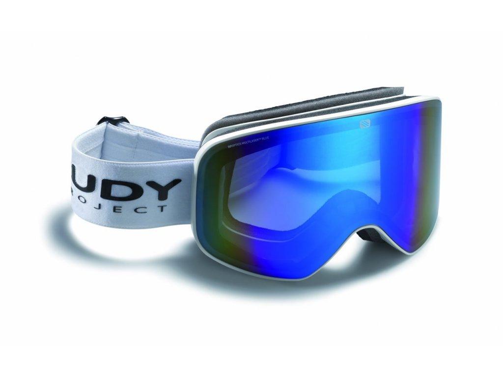 Rudy Project SKERMO - white mat / multi laser blue (varianta univerzálne)
