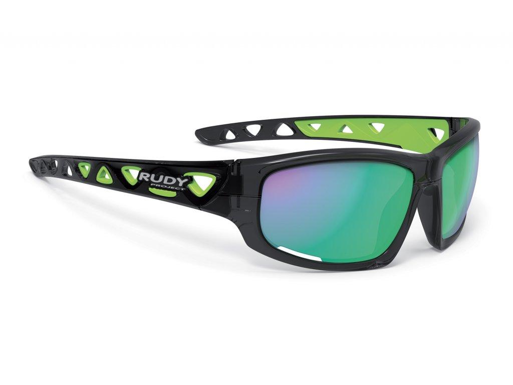 Rudy Project AIRGRIP - crystal graphite / multilaser green (varianta univerzálne)