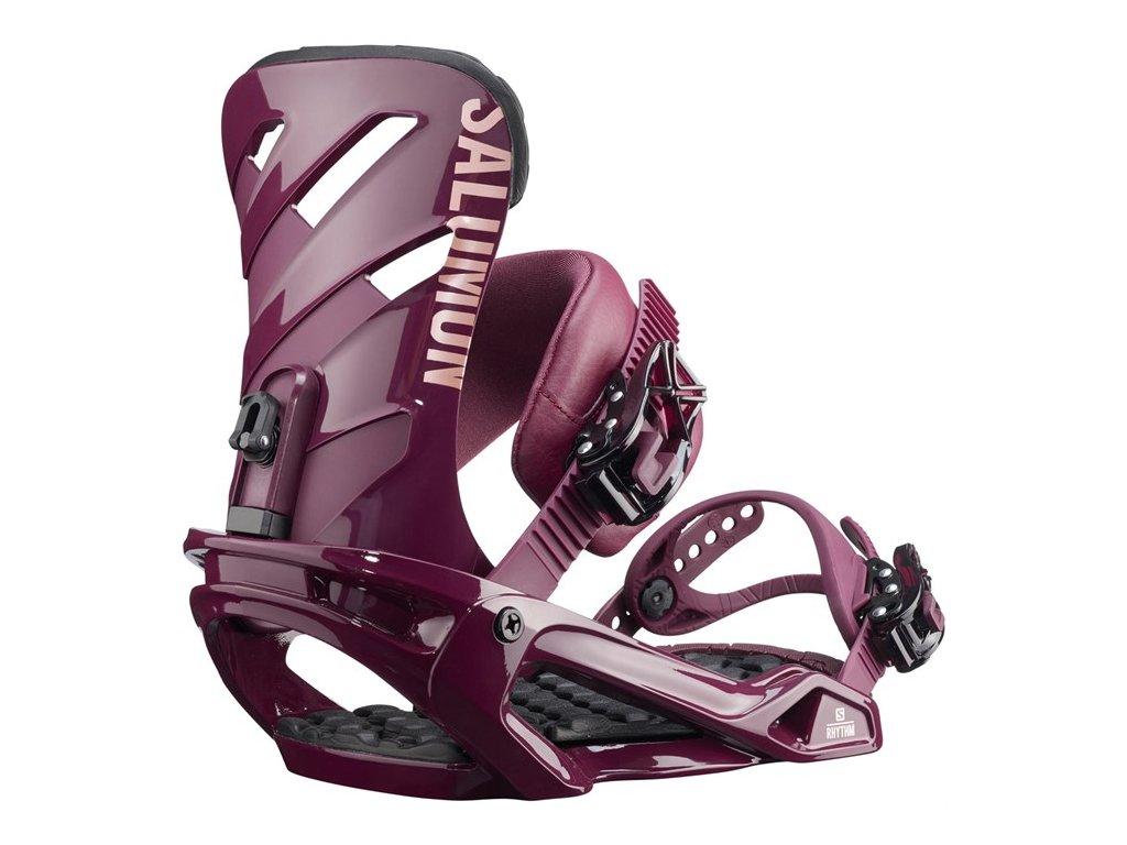 Snowboard viazanie Salomon RHYTHM - burgundy (varianta S)