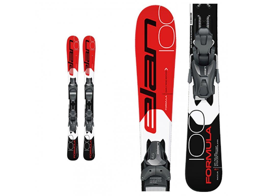 Zjazdové lyže Elan FORMULA JR red + viazanie EL 7,5 18/19 (dĺžka lyže 150)