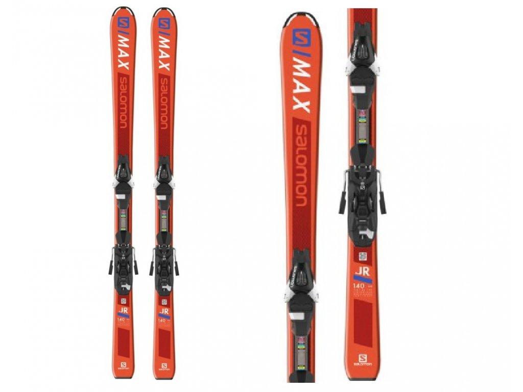 Zjazdové lyže Salomon S / MAX Jr. + Viazanie L 7,5 18/19 (dĺžka lyže 130)