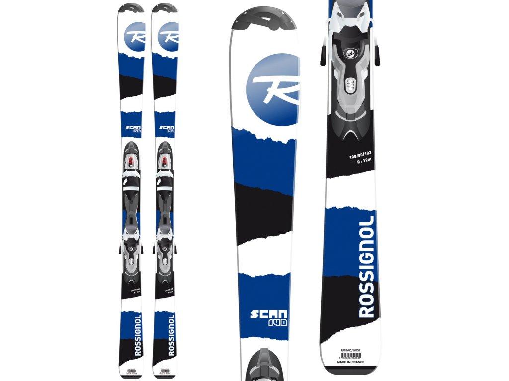 Zjazdové lyže Rossignol SCAN + viazanie blue / white 15/16 - použité (dĺžka lyže 100)