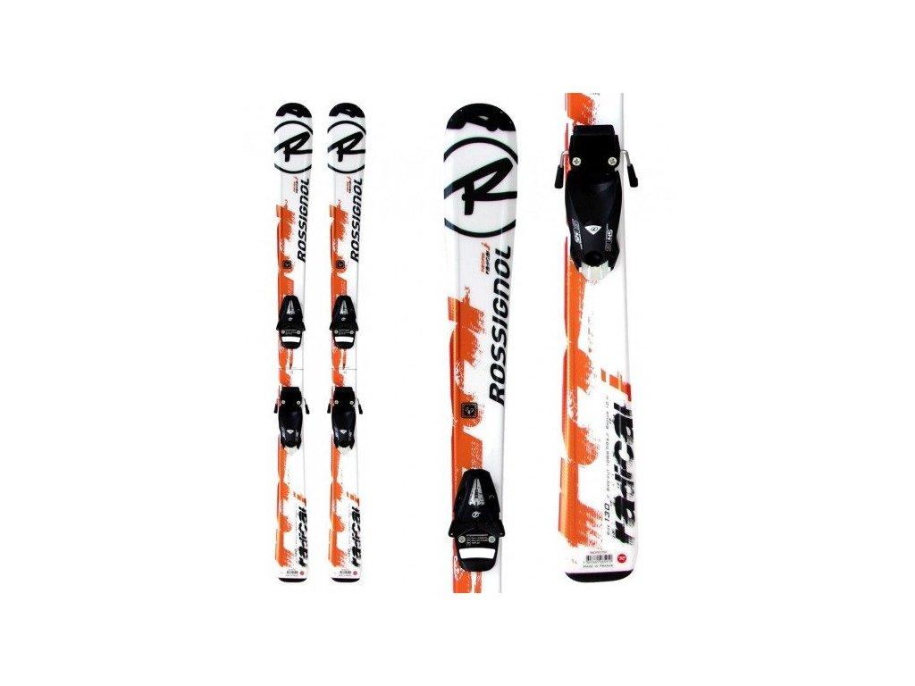 Rossignol RADICAL JR + viazanie - použité oranžové 12/13 (dĺžka lyže 120)