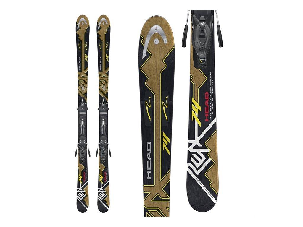 Zjazdové lyže Head iPEAK 74 FLR PR + PR 11 - použité (dĺžka lyže 156)