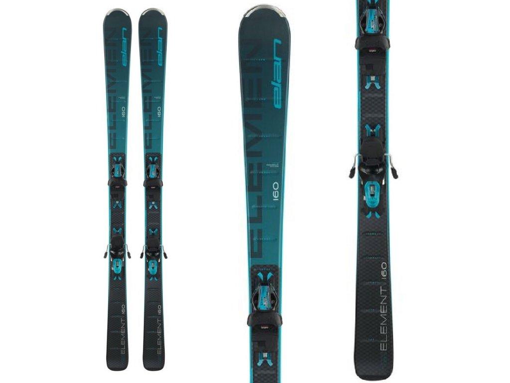 Zjazdové lyže Elan ELEMENT Black / Blue Light Shift + viazanie ELW 9.0 20/21 (dĺžka lyže 152)