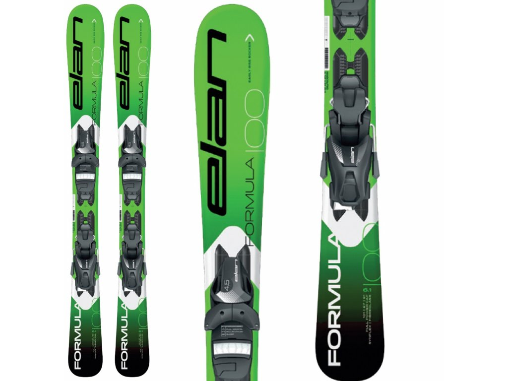 Zjazdové lyže Elan FORMULA JR green + viazanie EL 7.5 19/20 (dĺžka lyže 130)