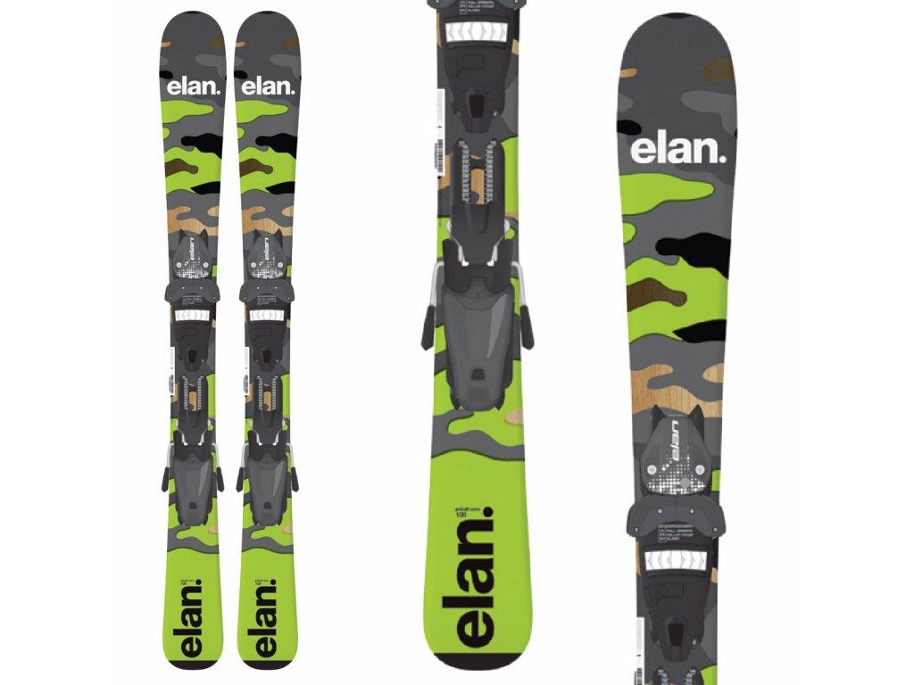 Elan PINBALL CAMO QS + viazanie EL 7.5 19/20 (dĺžka lyže 130)