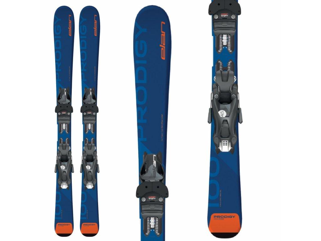 Zjazdové lyže Elan PRODIGY JR + viazanie QS EL 7.5 19/20 (dĺžka lyže 130)
