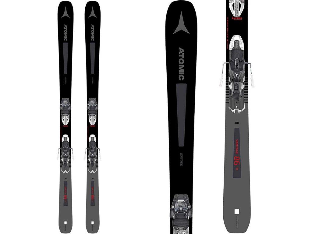 Zjazdové lyže Atomic VANTAGE 86 Tí DT + Warden MNC 13 DT 19/20 (dĺžka lyže 173)