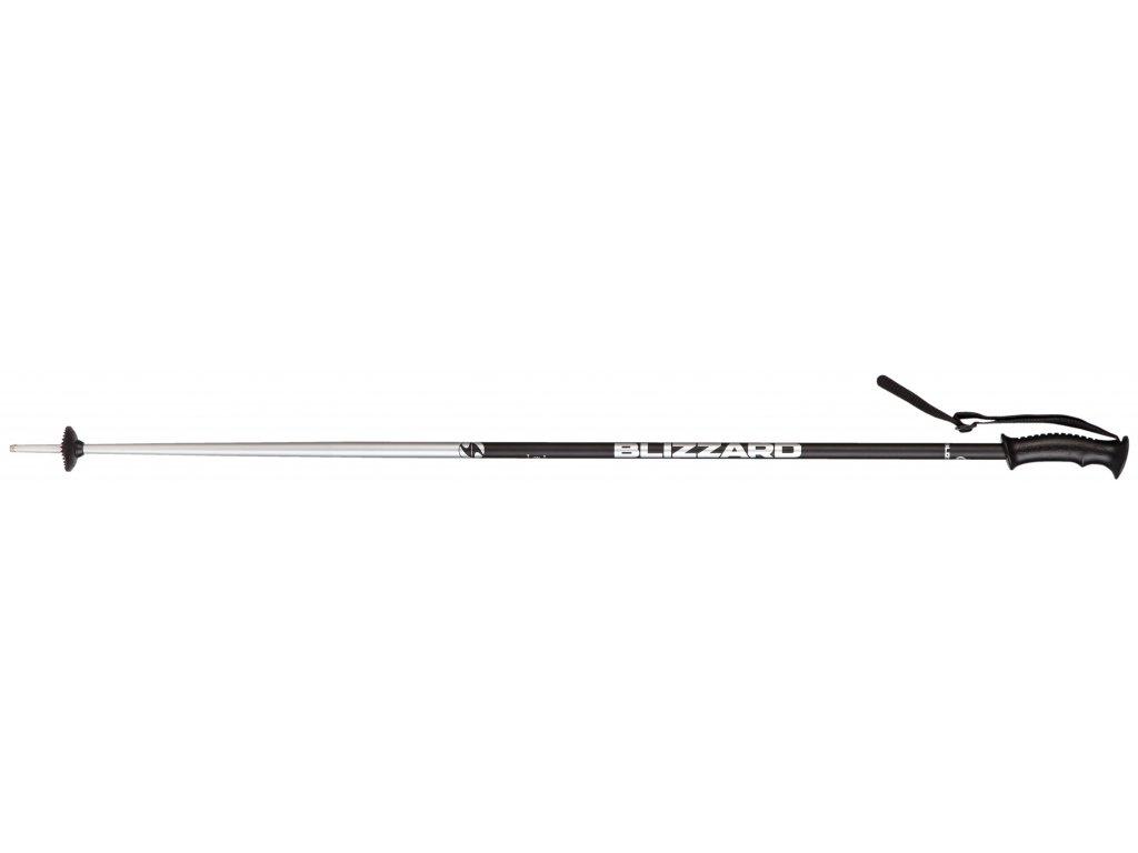 Lyžiarske palice Blizzard Allmountain, black shiny / silver 18/19 (dĺžka 115)
