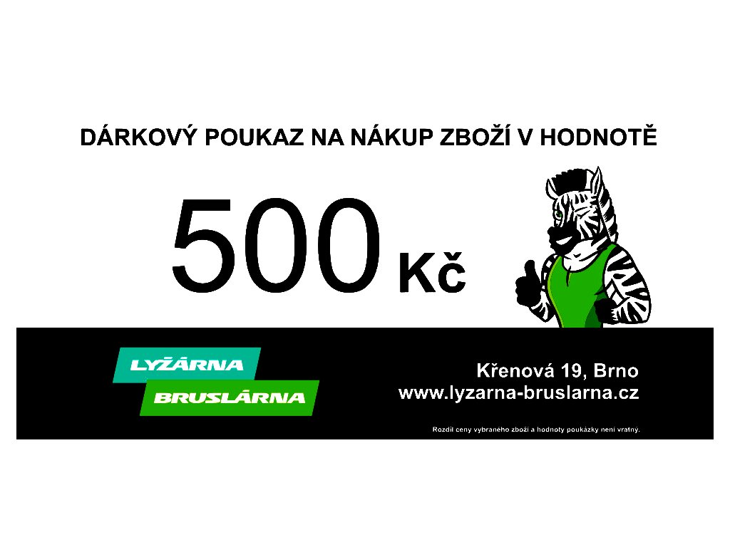 darkovy poukaz 500 tisk