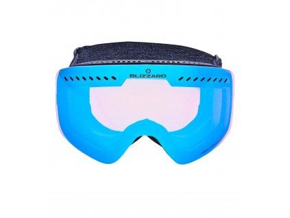 Lyžiarske okuliare Blizzard, 983 MDAVZOW black matt / smoke2 / ice blue revo (Pohlavie univerzálne)