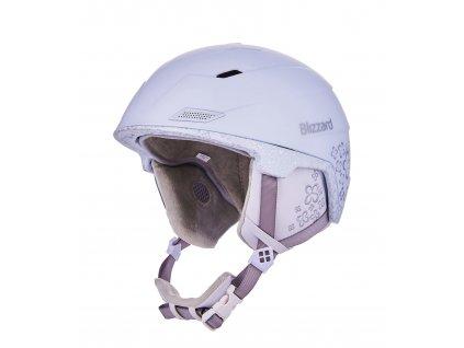 Blizzard VIVA Double ski helmet white matt / transp. flowers (Helmy vel. ML / 56-59)