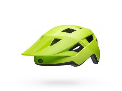 bell spark mips mountain bike helmet matte bright green black front left