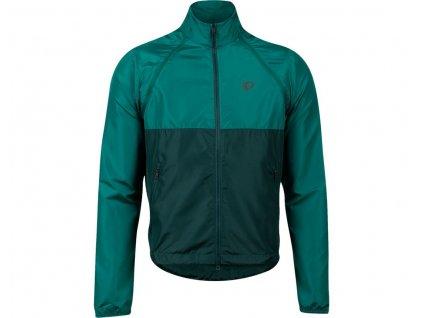 Cyklistická bunda Pearl izumi ELITE BARRIER CONVERTIBLE Alpine green / pine (veľkosť M)