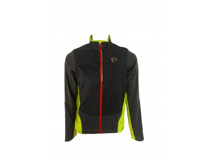Cyklistická bunda Pearl Izumi MTB SUMMIT SOFTSHELL Jacket Black / Lime punch (veľkosť M)