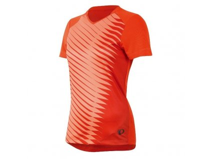 Cyklistický dres Pearl izumi LAUNCH JERSEY W - mandarin red (varianta XS)