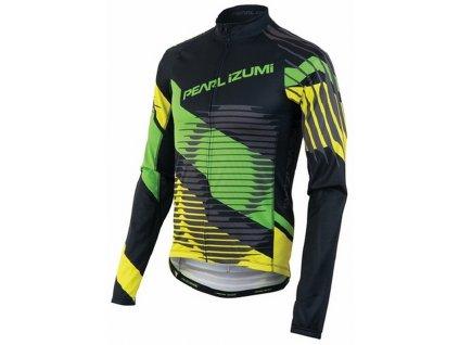 PEARL Izumi ELITE THERMAL LTD dres - čierno / zeleno / žltá (varianta S)