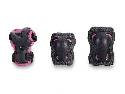Inline chrániče Rollerblade BLADEGEAR JR 3 PACK, Pink (varianta XS)