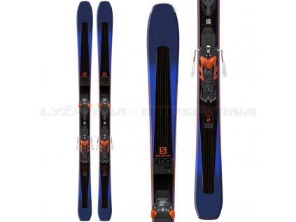 Zjazdové lyže Salomon XDR 88 TI + viazanie Warden MNC 13 Demo blue 18/19 - Testované (dĺžka lyže 179)
