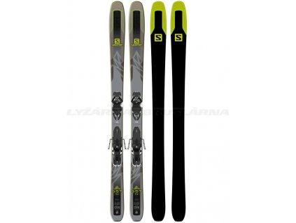 Zjazdové lyže Salomon QST 92 + viazanie Warden MNC 13 Demo 17/18 - Testované (dĺžka lyže 177)