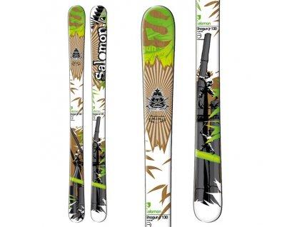 Zjazdové lyže Salomon SHOGUN JR + viazanie LZ7 green použitej (dĺžka lyže 120)