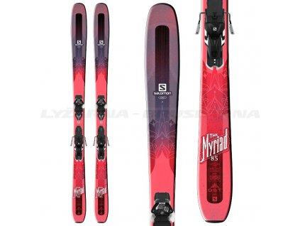 Zjazdové lyže Salomon QST Myriad 85 W + viazanie Warden MNC 13 17/18 - Testované (dĺžka lyže 169)