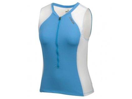Cyklistický dres Pearl izumi ELITE SL TRI JERSEY W'S - modrá / biela (varianta XS)