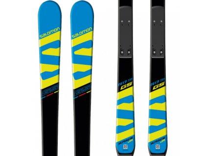 Zjazdové lyže Salomon X-RACE JR GS + viazanie L10 17/18 (dĺžka lyže 145)