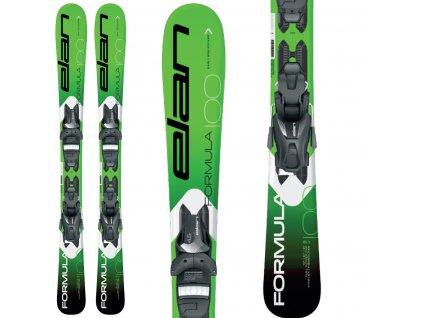 Elan FORMULA JR green + viazanie EL 4.5 19/20 (dĺžka lyže 100)
