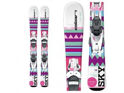 ELAN SKY QS + EL 4.5 pink / white 17/18 (dĺžka lyže 110)