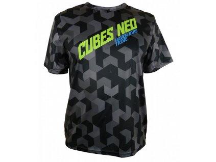 Cyklistický dres Haven Cubes Neo black / green (veľkosť L)