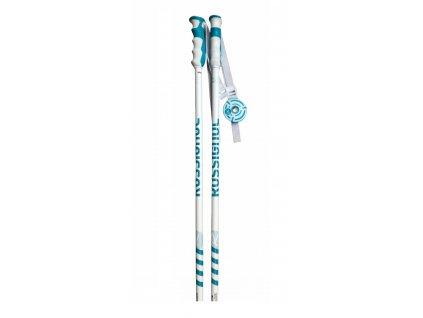 Lyžiarske palice Roosignol STOVE white / turquoise 20/21 (dĺžka 105)
