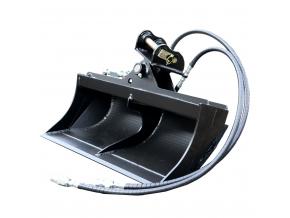 """Hitachi EX12 hydraulická svahová lžíce 39"""" / 1000 mm"""
