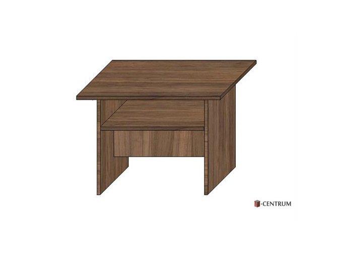 konferenční stolek čtverec 70x70 cm, s plnými boky