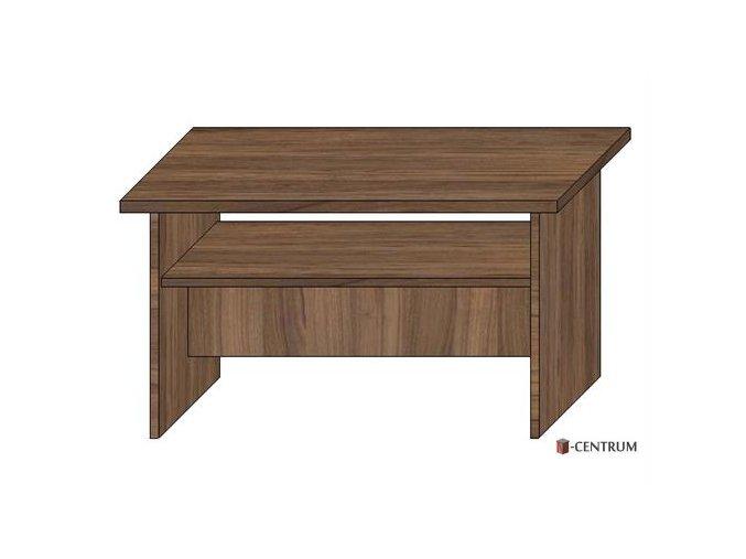 konferenční stolek obdélník, s plnými boky