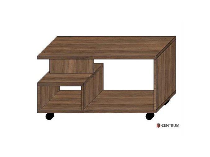 konferenční stolek obdélník, na kolečkách s nikou