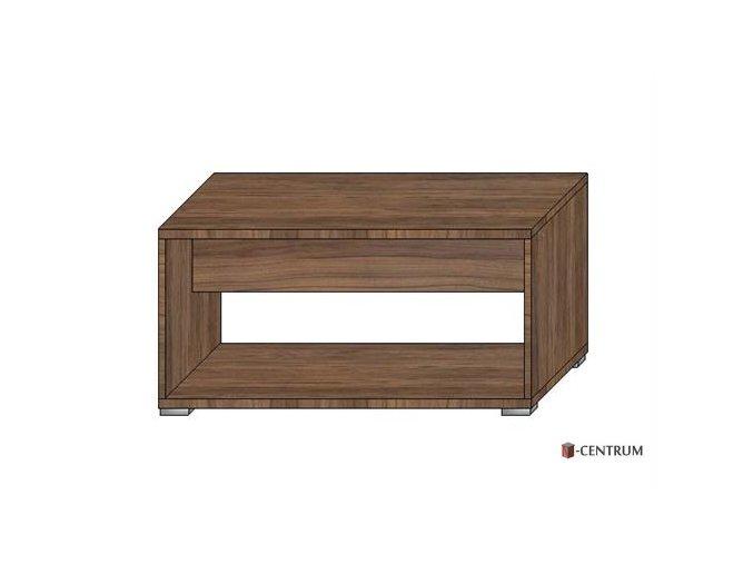 konferenční stolek obdélník, s nikou (deska 25 mm)